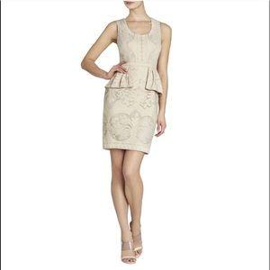 Worn Once, Cream Lace Peplum Dress
